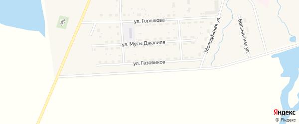 Улица Газовиков на карте села Москово с номерами домов