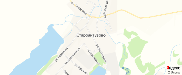 Карта села Староянтузово в Башкортостане с улицами и номерами домов