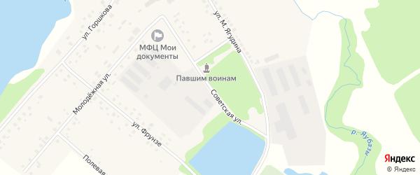 Советская улица на карте села Староянтузово с номерами домов