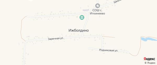 Дорожная улица на карте села Ижболдино с номерами домов