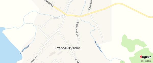 Базарная улица на карте села Староянтузово с номерами домов