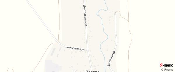 Больничный переулок на карте села Дедово с номерами домов