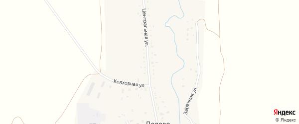 Заречная улица на карте села Дедово с номерами домов