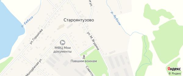 Улица Ягудина на карте села Староянтузово с номерами домов