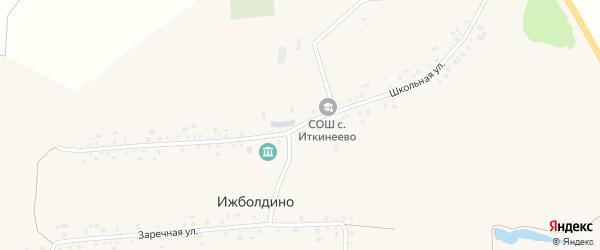 Школьная улица на карте села Ижболдино с номерами домов
