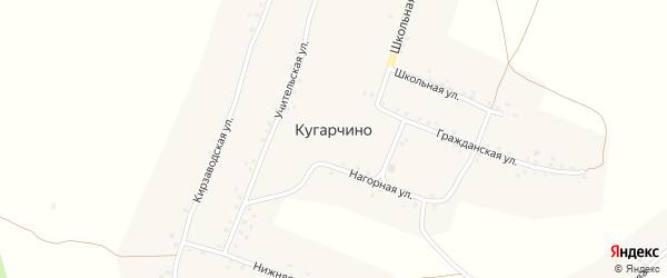 Учительская улица на карте деревни Кугарчино с номерами домов