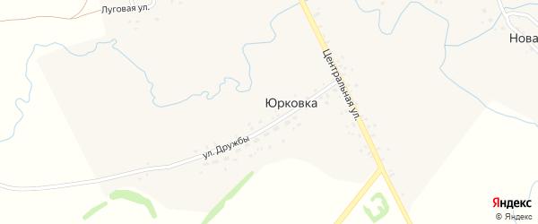 Центральная улица на карте деревни Юрковки с номерами домов