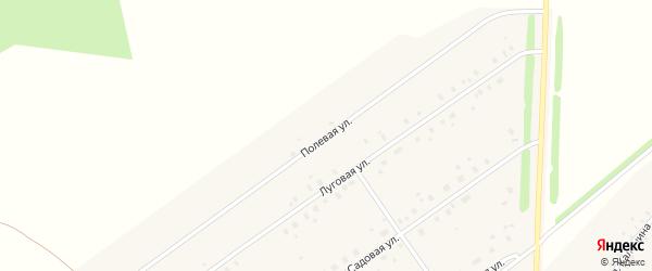 Полевая улица на карте села Москово с номерами домов