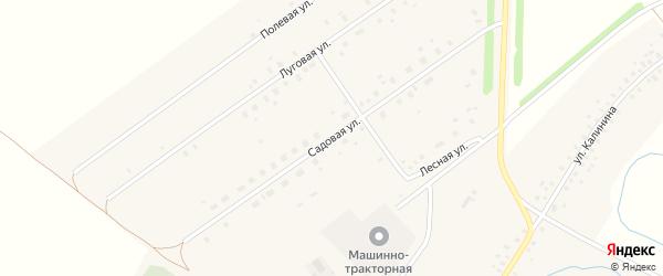Садовая улица на карте села Москово с номерами домов