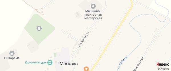 Пекарная улица на карте села Москово с номерами домов