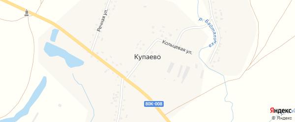 Шоссейная улица на карте деревни Купаево с номерами домов