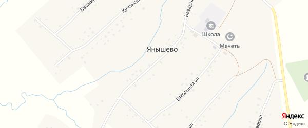 Школьная улица на карте села Янышево с номерами домов