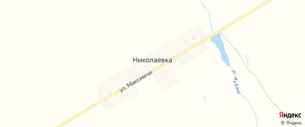 Улица Максимчи на карте деревни Николаевки с номерами домов