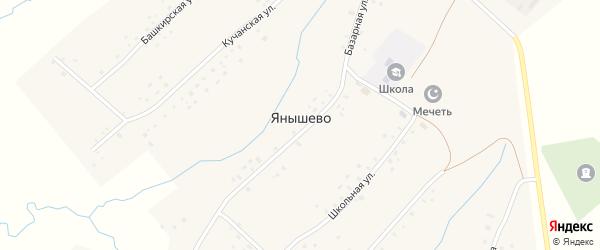 Башкирская улица на карте села Янышево с номерами домов