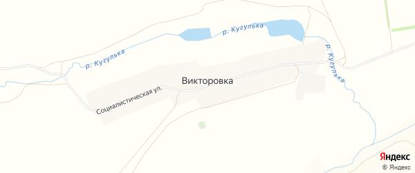 Карта деревни Викторовки в Башкортостане с улицами и номерами домов