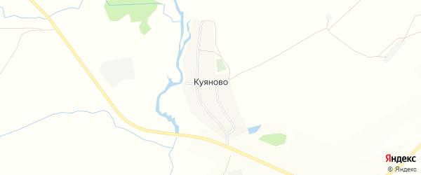 Карта деревни Куяново в Башкортостане с улицами и номерами домов