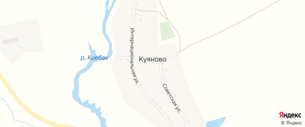 Интернациональная улица на карте деревни Куяново с номерами домов