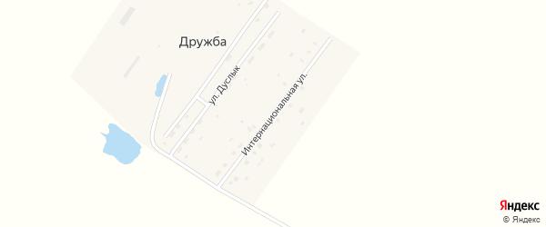 Интернациональная улица на карте села Дружбы с номерами домов