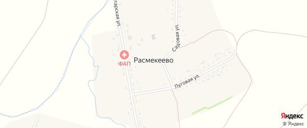 Луговая улица на карте деревни Расмекеево с номерами домов