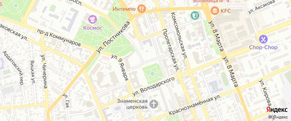 Переулок Неплюева на карте Оренбурга с номерами домов