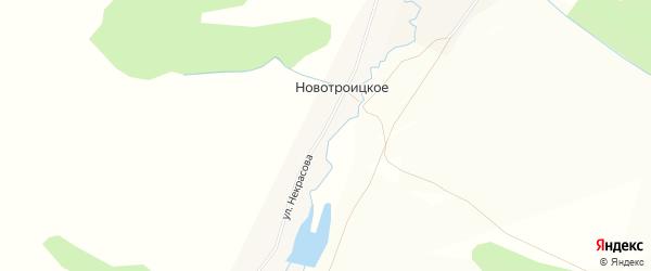 Карта деревни Новотроицкого в Башкортостане с улицами и номерами домов
