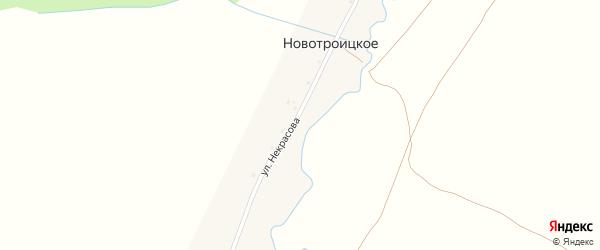 Улица Некрасова на карте деревни Новотроицкого с номерами домов