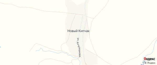 Карта деревни Нового Кипчака в Башкортостане с улицами и номерами домов