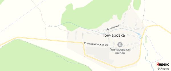 Карта деревни Гончаровки в Башкортостане с улицами и номерами домов