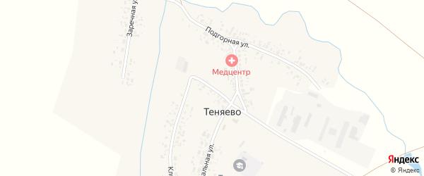 Кузнечный переулок на карте села Теняево с номерами домов