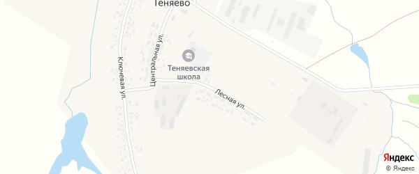 Лесная улица на карте села Теняево с номерами домов