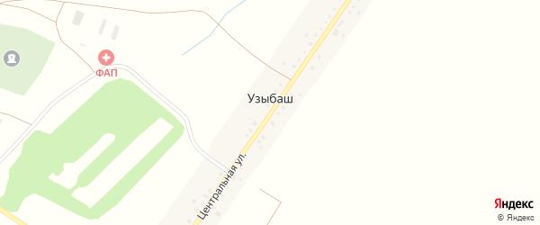 Центральная улица на карте деревни Узыбаша с номерами домов