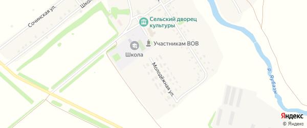 Молодежная улица на карте села Старобаишево с номерами домов