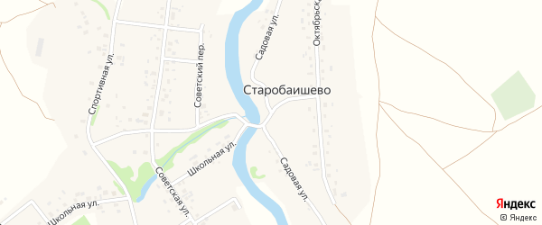 Садовая улица на карте села Старобаишево с номерами домов