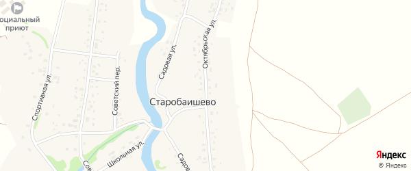 Октябрьская улица на карте села Старобаишево с номерами домов