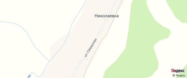Улица Свердлова на карте деревни Николаевки с номерами домов