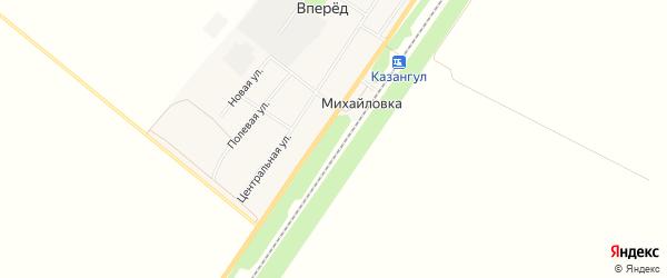 Карта хутора Михайловки в Башкортостане с улицами и номерами домов