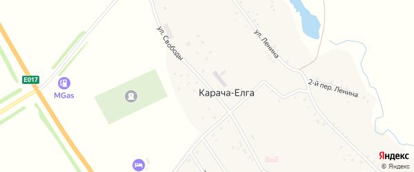 Улица Свободы на карте села Карача-Елга с номерами домов