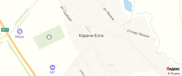 Лесная улица на карте села Карача-Елга с номерами домов