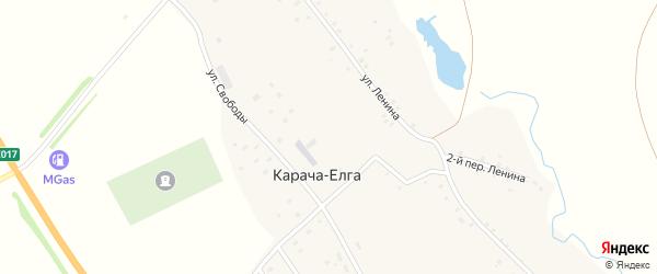 Свободы 1-й переулок на карте села Карача-Елга с номерами домов