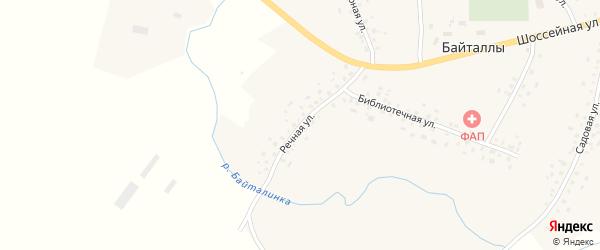 Речная улица на карте села Байталлы с номерами домов