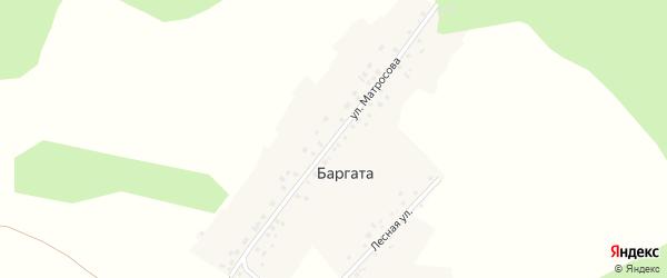 Улица Матросова на карте деревни Баргаты с номерами домов