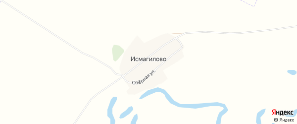 Карта села Исмагилово в Башкортостане с улицами и номерами домов