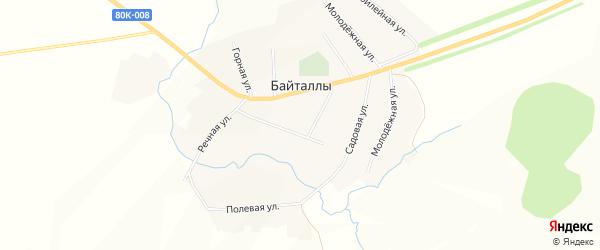 Карта села Байталлы в Башкортостане с улицами и номерами домов