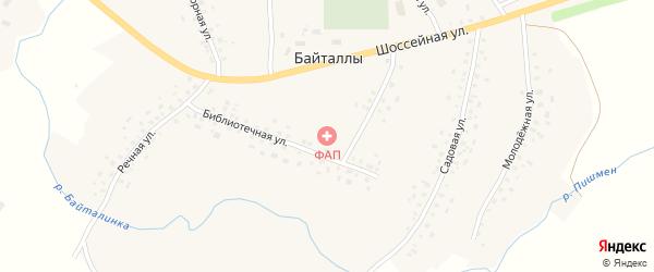 Библиотечная улица на карте села Байталлы с номерами домов