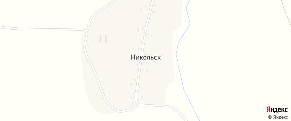 Улица Мира на карте деревни Никольска с номерами домов