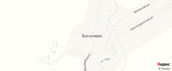 Улица Сахиба Майского на карте деревни Бигиняево с номерами домов