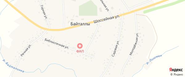 Библиотечный переулок на карте села Байталлы с номерами домов
