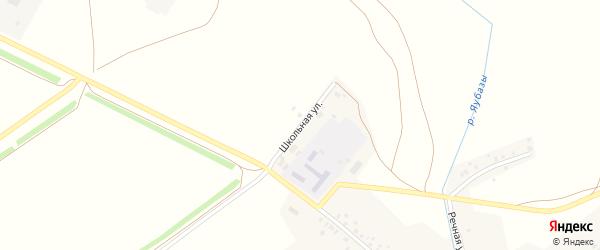 Школьная улица на карте села Староуртаево с номерами домов