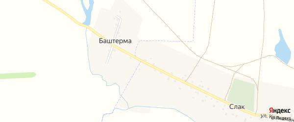Улица Ильчегулово на карте деревни Баштермы с номерами домов