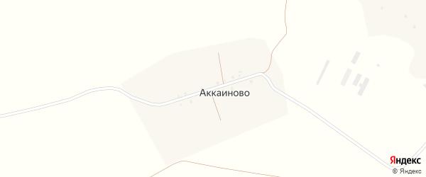Тукая улица на карте деревни Аккаиново с номерами домов